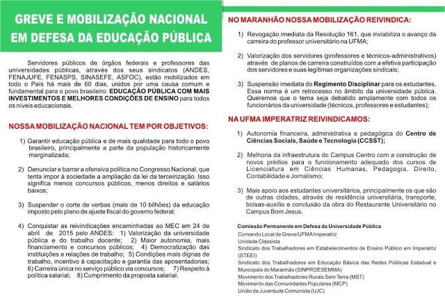 PANFLETO-min panfletagem Panfletagem informa sobre a greve na UFMA PANFLETO min