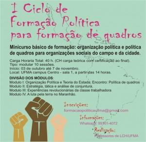 formacao-politica-ufma formação política Duas boas oportunidades de formação política ciclo formacao ufma