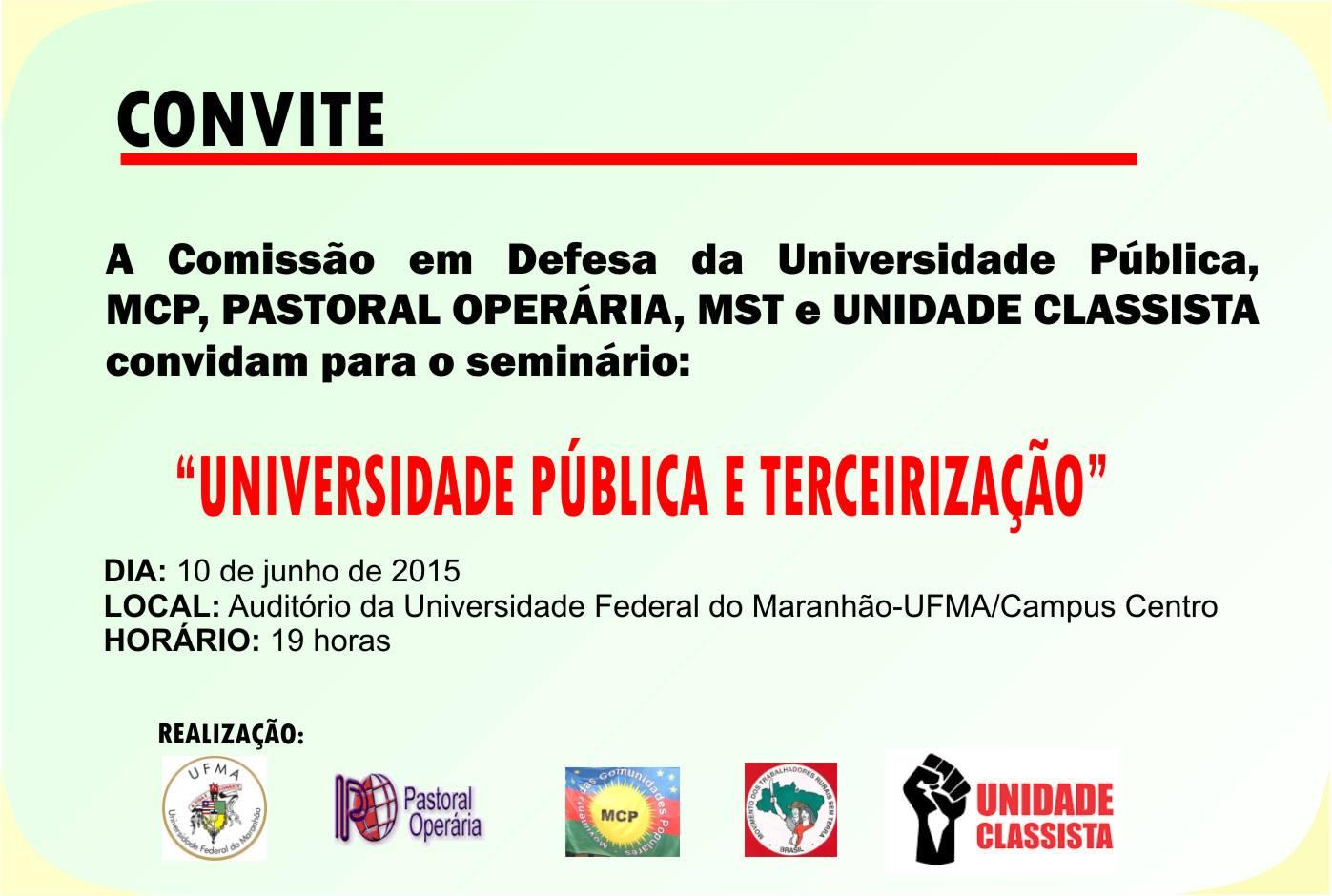 convite-greve Movimentos sociais discutem universidade pública Movimentos sociais discutem universidade pública e terceirização convite greve