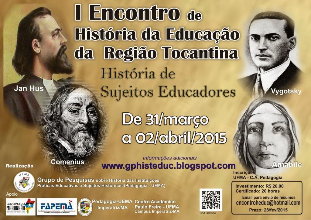 Encontro-história-educação encontro de história da educação I Encontro de História da Educação da Região Tocantina Encontro historia educa    o
