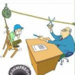 Acordo – negociação entre patrão e empregado trabalhar Você sabe o quanto paga para trabalhar? acordo